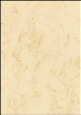 Sigel DP397 Marbled Writing Paper A4 beige, 200 gsm double sided 50 sheets