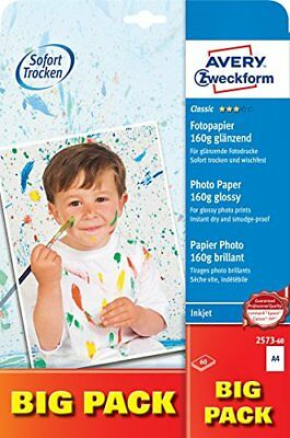 Avery Zweckform 2573-60 Superior Inkjet Photo Paper Glossy A4 160 g 60 Sheets