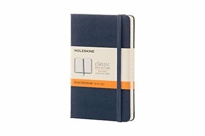 Moleskine Sapphire Blue Pocket Ruled Notebook Hard