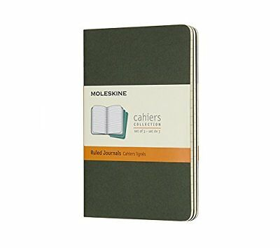 Moleskine Myrtle Green Pocket Ruled Cahier Journal Set of 3
