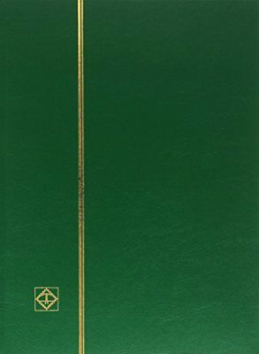 A4 Stamp StockBook-64 Black pages -Green