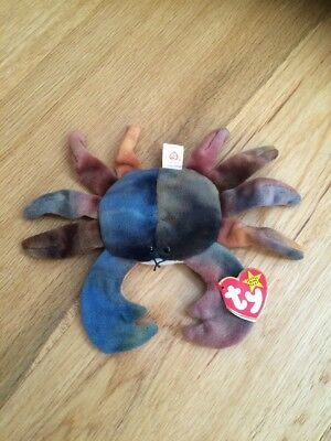 TY Beanie Babies - Claude the Crab - RARE 🦀