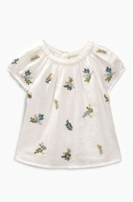 Next Baby Girls Embroidered Wild Flower Smock Top- 18-24 Months