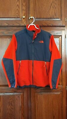 The North Face Denali Red Fleece w/ Blue Trim Jacket Boys Size XL Extra Large