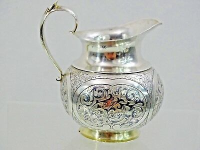 Stunning Antique Imperial Russian 84 Silver Niello Creamer Milk Jug Moscow 1853