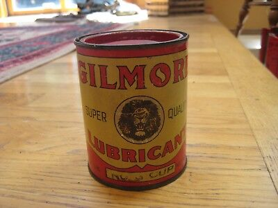 Gilmore Lubricant: Vintage 1 pound can:  Lion Head in Good Condition Oil