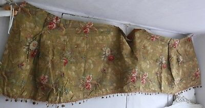 Antique French Fabric Vintage Cotton Panel Chinoiserie Hummingbirds Hibiscus 3yd