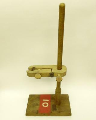 Vintage Wooden Laboratory Stand Burette Holder