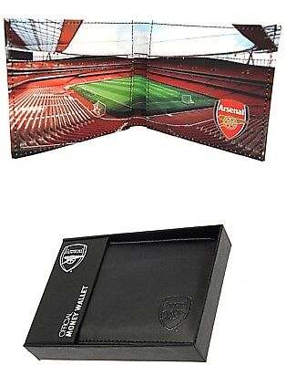 Arsenal Fc Real Leather Football Sports Team Money Stadium Wallet Purse Afc Gift