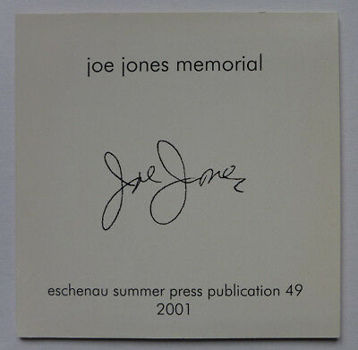 Joe Jones Memorial LTD. CD herman de vries 2001 FLUXUS yoko ono george maciunas