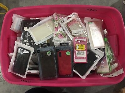 WHOLESALE LOT OF 100 cell Phone Cases/skins-for Assorted Samsung/iPhone Brands