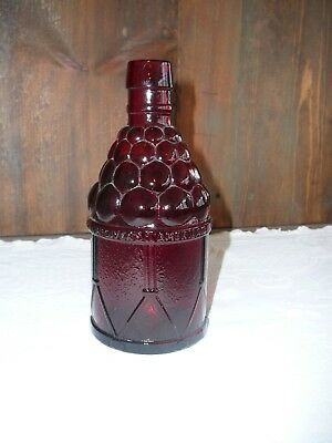 "Wheaton red glass bottle, 7 3/4"" in height, McGiver's American Army Bitters"