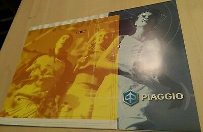 Piaggio - Vespa Scooter Lineup Brochure/Poster 2001 - Collector's Item