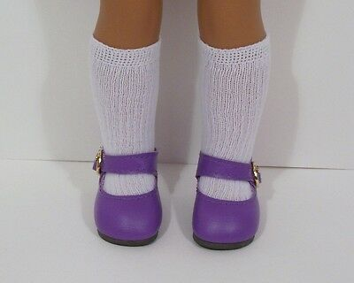 """Debs LAVENDER Princess Flats Doll Shoes For 14/"""" Am Girl Wellie Wisher Wishers"""