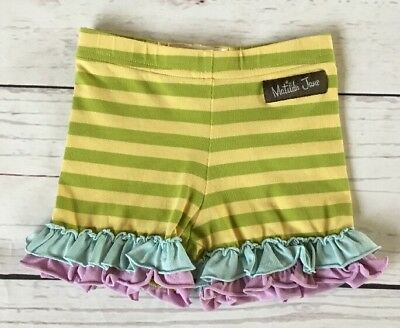 Matilda Jane Good Hart Farm Fresh Shorties 18m Stripe Ruffle Shorts 18 Months