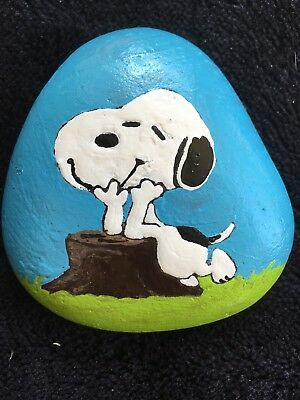 HAND PAINTED ROCK ART Snoopy