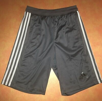 Adidas Climalite Mens XS Designed To Move D2M 3 Stripes Shorts Dark Gray NWT