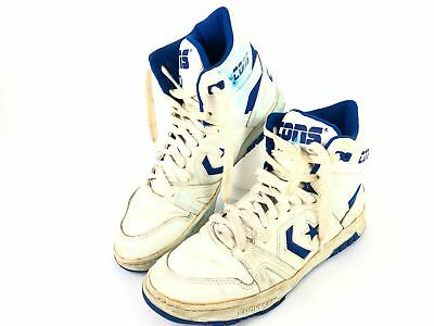 28ffbb86de995d ... authentic vintage converse cons 100 white leather royal blue basketball  sz 13 high tops 30c82 c0dda