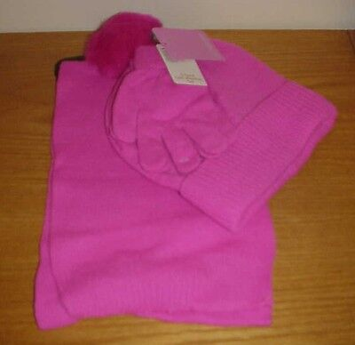 3 pc Berkshire Girls Marled Scarf Gloves Hat Set One Size 4-16 NWT PINK 0385a3ccc6aa