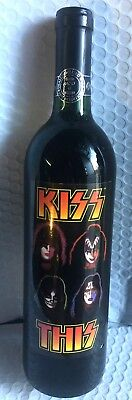 "KISS - ""KISS THIS"" - 1997 - Un-Wine Bottle - #9257 of 50,000 - SEALED - NEW -"