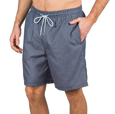 78918211d1fc0 Kirkland Signature Men's Swim Shorts - Grey & Black Squares - Size: ...