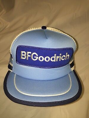 11183748163ebc RARE VINTAGE 80s BF GOODRICH TIRES PATCH THREE STRIPE SNAPBACK HAT CAP 3  SIDE EC