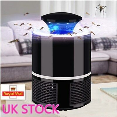 USB LED Electric Mosquito Zapper Killer Fly Insect Bug Trap Lamp Light Bulb UK T