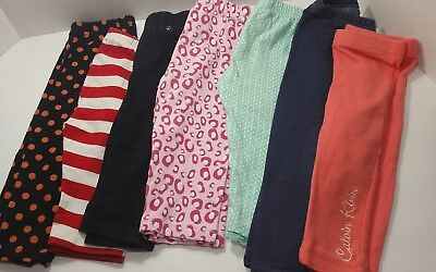Lot of 7 Toddler Girl Leggings size 12M Baby JK, Calvin Klein - C3A7