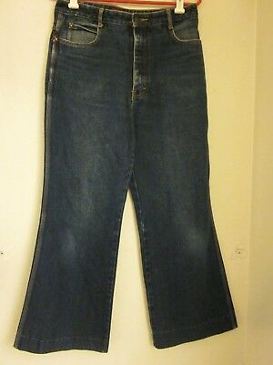 Vtg 70s Brittania Jeans HIGH RISE style 2516 size 33 / 13 30X28 huge bell bottom