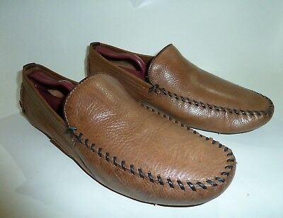 c1e52abad5b STEVE MADDEN MEN S Vicius Brown Leather Slip-On Driving Loafer Shoes Size  13 -  39.99