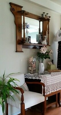 Wall Mirror - hall mirror. Ornate solid timber Federation/Decor style frame