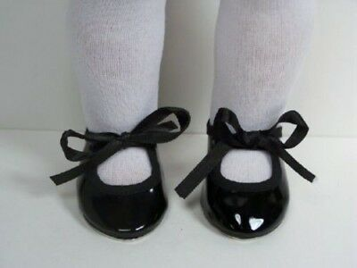 """BLACK  Patent Tap-Dance Doll Shoes For 18"""" American Girl (Debs)"""