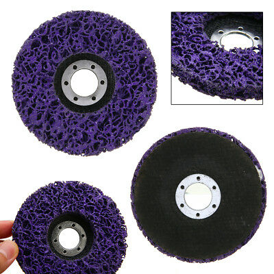 """2pcs 4.5"""" Poly Strip Disc Wheel Car Paint Rust Removal Clean Angle Grinder Tools"""
