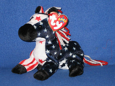 TY LEFTY 2000 the DEMOCRATIC DONKEY BEANIE BABY - MINT with MINT TAGS