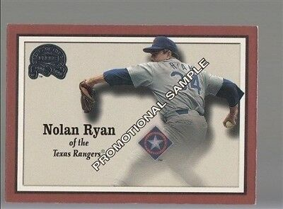 2000 Greats of the Game #33 Nolan Ryan Promotional Sample Card