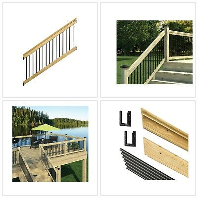 Stair Railing Wooden Deck Frame Aluminum Stainless Steel Durable Weather Resist