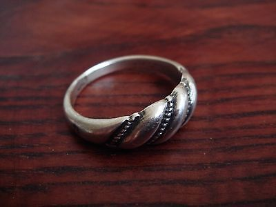 Vintage Old Silver Women Girls Lady Men Unisex 5.7 Grams  Ring Silver  Nr 7501