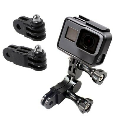 Prolong Extension Connector Adapter 3-Way Pivot Arm Helmet Mount For GoPro 5/4/3