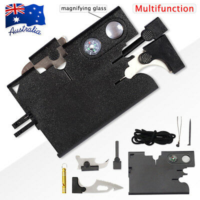 18 in1 Multi Function Tool Kit Card Mini Portable Pocket Outdoor Survival Hiking