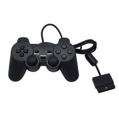 Black Wired Children Kid Gaming Game Controller Joypad Gamepad for PS2 Joystick