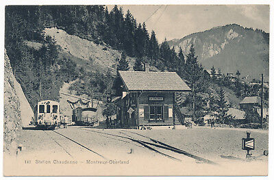 Station Chaudanne - Montreux-Oberland, Vaud, M.O.B.