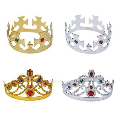 King Queen Crown Headwear Decoration Gift for Party Christmas Halloween Birthday