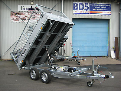 NEW Debon 2600 kg 3-way Electric Tipper Trailer Aluminium Sides Spare Wheel