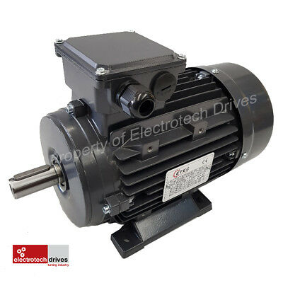 Single Phase 1.1kw Motor and Worm Gearbox 112 rpm output 25mm Hollow Bore 34Nm