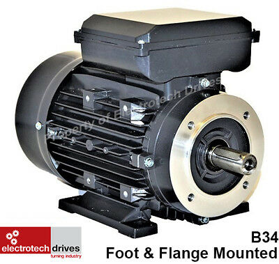 240v Electric Motors 0.18kw to 4kw Flange Mount Variations 1400 and 2800rpm
