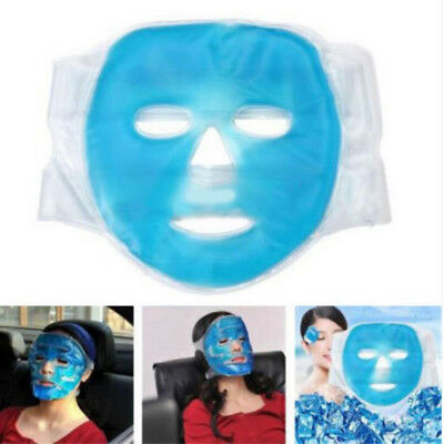 1X Reusable Gel Ice Pack Cool Face Mask Pain Headache Relief Relaxing Face Mask