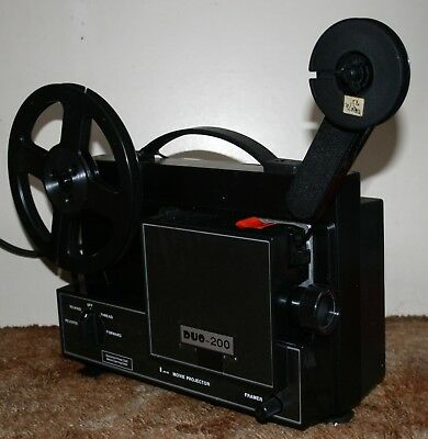 Duo 200 Super 8mm Film Projector Silent - Boxed - Good Working Order