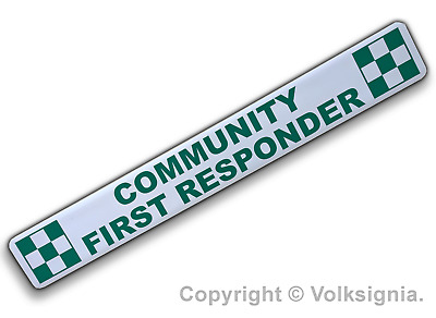 Community First Responder Magnetic Strip - Vehicle Sign - First Responder EMT