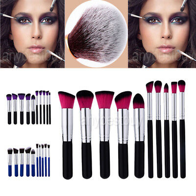10Pcs/set Makeup Brushes Cosmetic Tool Eyeshadow Powder Blush Brush Lip Set AZ