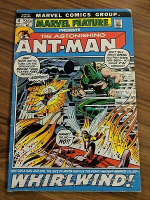 Marvel Feature 6 The Astonishing Ant-Man FN- Hank Pym Wasp 1972 Marvel Comics